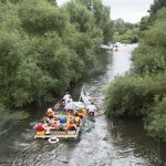 Three Lions charity raft race in support of the Wooden Spoon